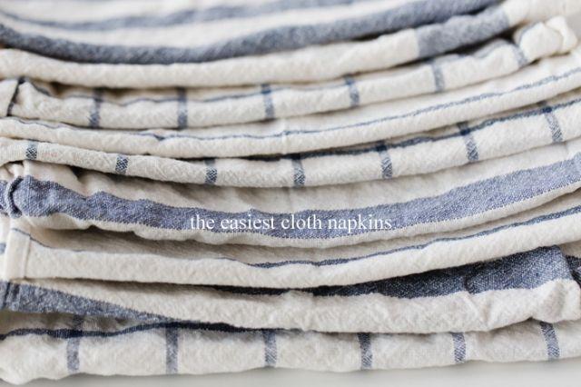 The Easiest Cloth Napkins