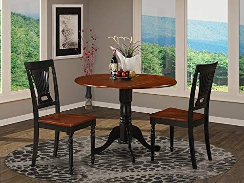 New 3 Pc Small Kitchen Table Chairs Set Round Table 2 Dinette Chairs Online Shopping In 2020 Table Chair Sets Small Kitchen Tables Round Table Chairs