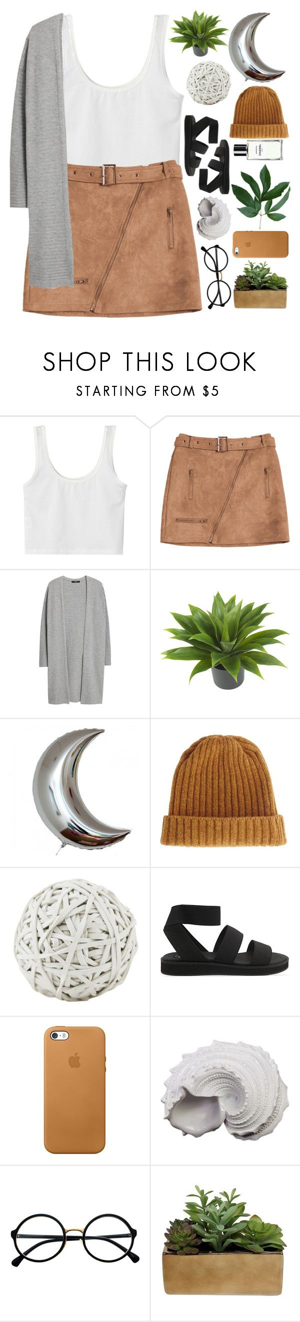 """""""Until Our Paths Crossed Again"""" by theafergusma ❤ liked on Polyvore featuring MANGO, Nearly Natural, ASOS, Cheap Monday, Chanel, Urban Trends Collection, Retrò and Threshold"""
