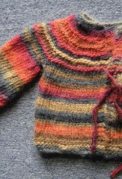 Baby Jacket - 5 hour baby sweater - free knitting pattern - Crystal Palace Yarns