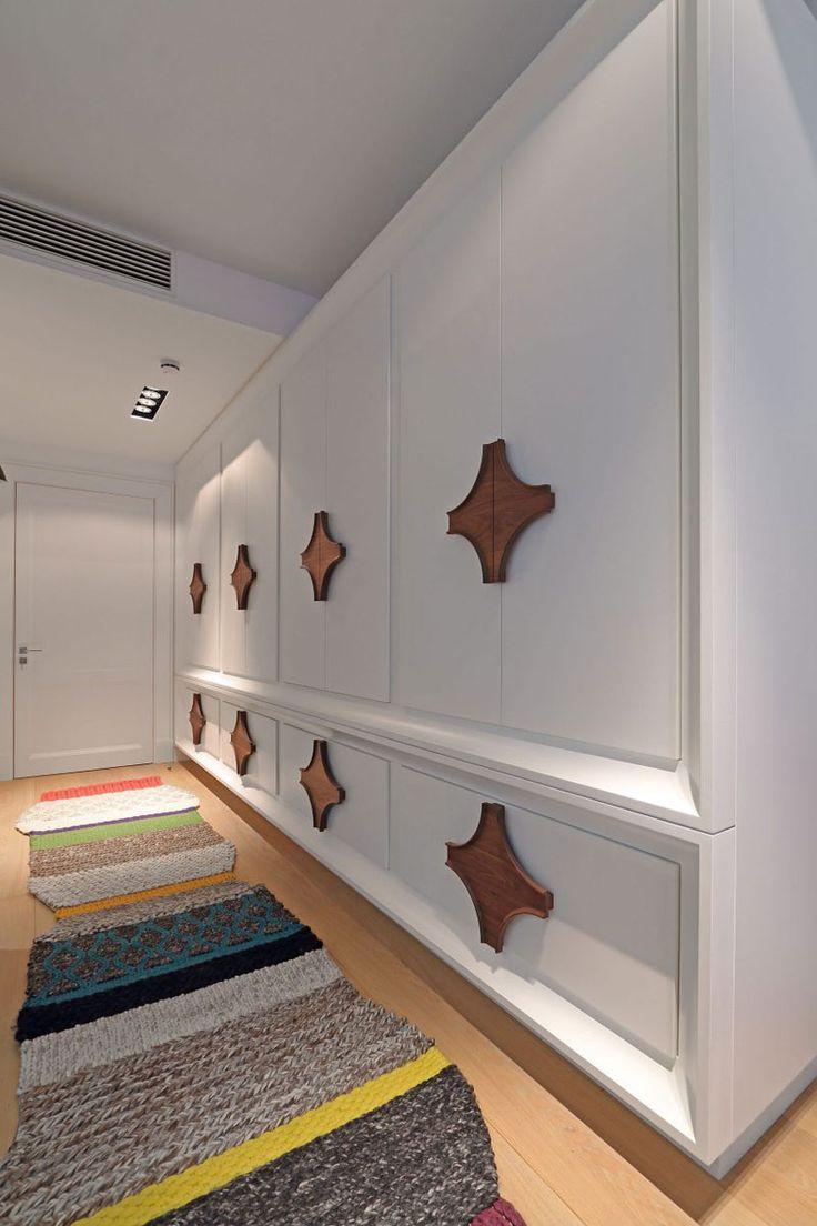 Interior Design Idea - Oversized Cabinet Hardware Creates A Bold Look