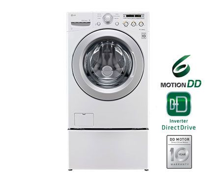LG WM3050CW 4.0 cu. ft. Ultra Large Capacity Front Load Washer with ColdWash™ Technology
