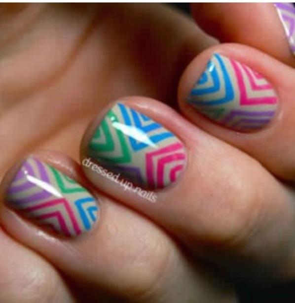 Nail Polish Ka Design Dikhaye: Sharpies On White Nails With Clear Nail Polish •Why Didn't