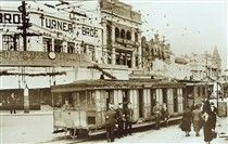 Last day for the steam tram in Kogarah in southern Sydney in 1937.