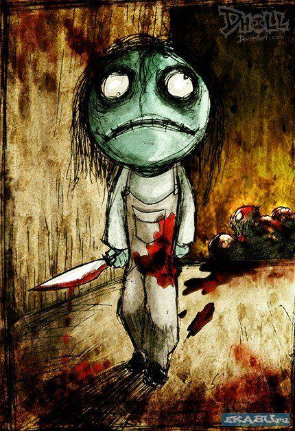 Страшные рисунки кукол » Екабу.ру - развлекательный портал Мурманска