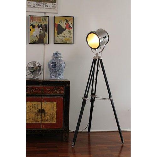 Marine Nautical Search Light Floor Lamp  - Fat Shack Vintage