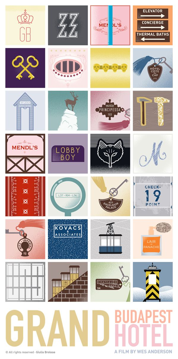 Grand Budapest Hotel - Graphic Poster by Giulia Brolese, via Behance