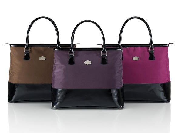 Metropolitan Chocolate Plum Black Cherry Shoppers //luggage by jasper conran