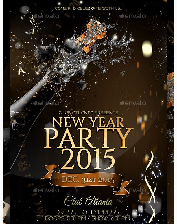 26 best images about New Year Flyer Template – New Year Party Flyer Template