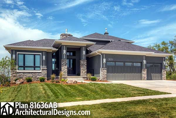 25 best ideas about prairie style homes on pinterest for Contemporary prairie home plans