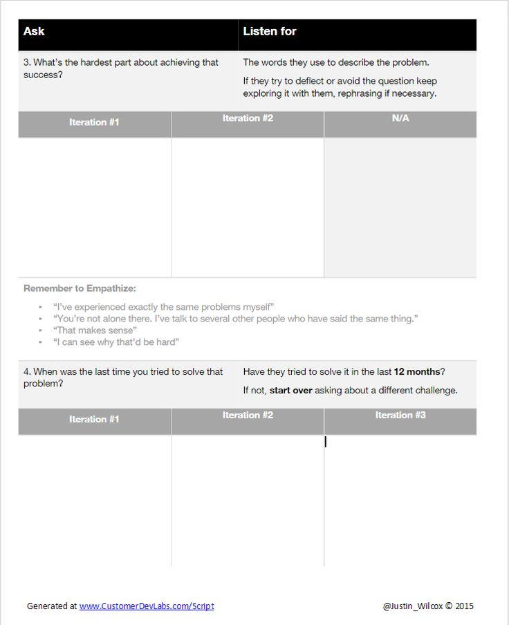 Customer Interview Script Generator - Customer Development Labs