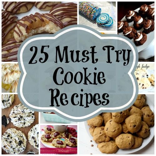 25 of the BEST Cookie Recipes ever! via My Very Educated Mother #holidayrecipe #cookierecipe