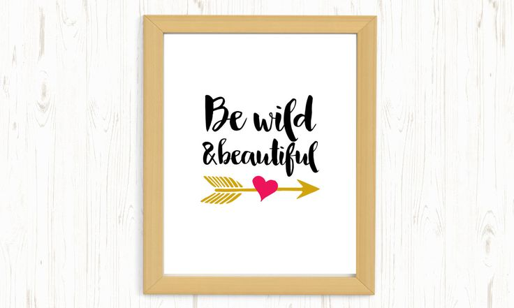 Be wild and beautiful printable, be wild printable, be wild digital print, nursery printable, nursery wall art, nursery digital print, bojo by ThePrintableCorner on Etsy