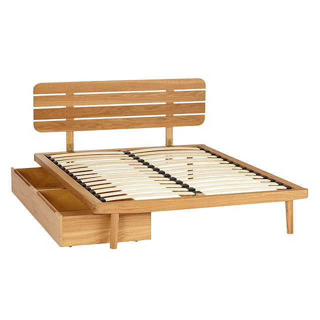BuyHouse by John Lewis Bow Underbed Storage Drawers, Set of 2, Oak Online at johnlewis.com