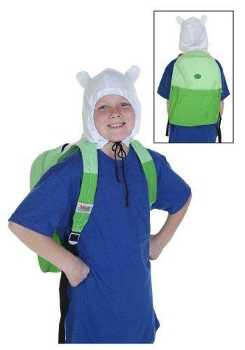 Adventure Time Finn Hood Costume Backpack by bioWorld. Adventure Time Finn Hood Costume Backpack.