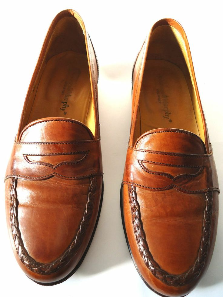 Johnson and Murphy Men's Leather Brown Classic Loafer Dress Shoe Sz7M Causal