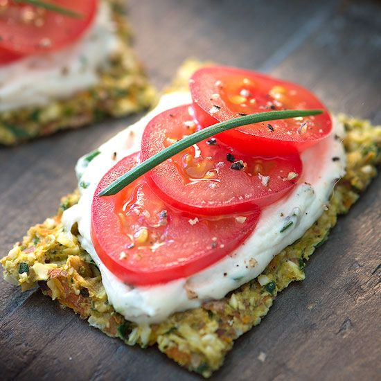 My favorite vegan cheese chive spread! So easy to make, good for you, and delicious! And a great veggie cracker, too!