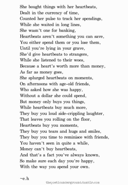 """heartbeats"" thepoeticunderground -eh"