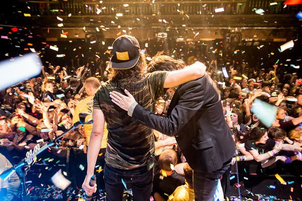 Vic Fuentes of Pierce The Veil and Kellin Quinn of Sleeping WIth Sirens at House of Blues Cleveland
