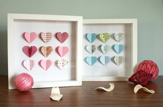 3d Wall Art Hearts or Stars Pink Blue Green Great by ColwellDesign, £12.99