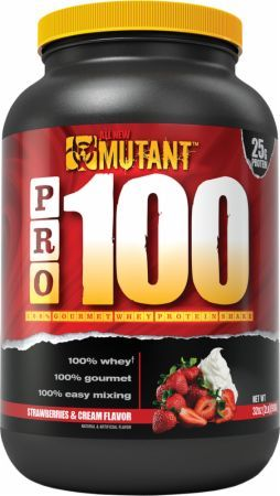 MUTANT PRO 100 Strawberries & Cream 2 Lbs. PLV3110136 Strawberries & Cream - High Quality 100% Pure Whey Protein You Can Trust To Support Healthy Muscle Building