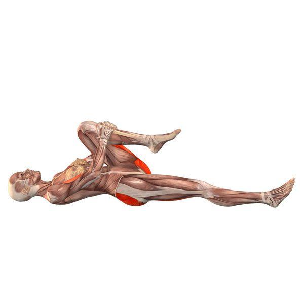 ૐ YOGA ૐ Pavanamuktasana  ૐ Postura de Liberación de Vientos con Pierna izquierda. Left-leg wind-freeing pose - Yoga Poses   YOGA.com