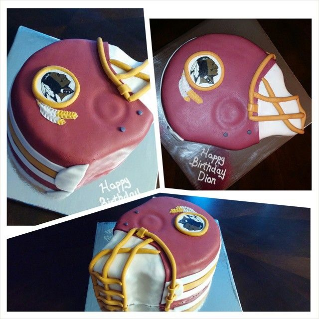 Blow out the candles on your next birthday with this awesome Redskins cake!