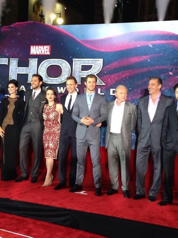 Tom Hiddleston at the #ThorDarkWorld premiere in LA. Via #YahooMovies