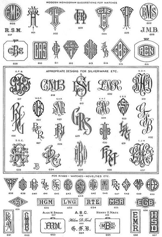 1848 best images about monogram ideas on pinterest