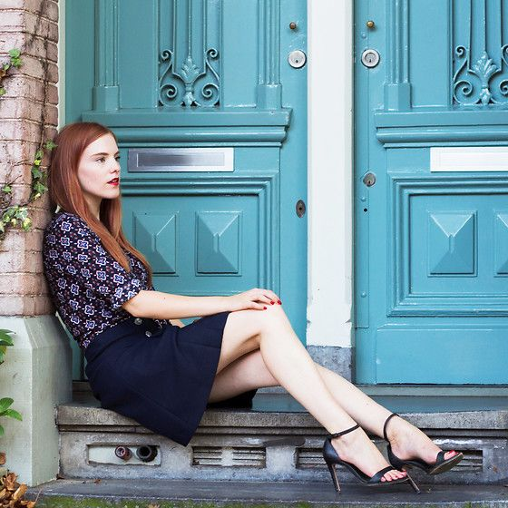 More looks by Sonja Vogel: http://lb.nu/retrosonja  #chic #elegant #preppy #retro #summer #blue #navy #dutch #amsterdam