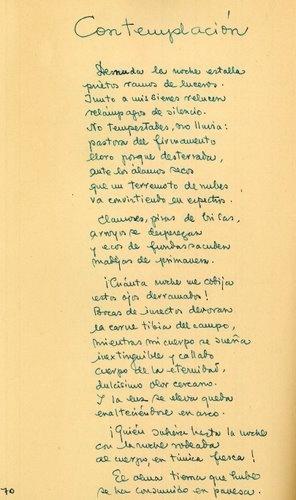 """""""Contemplación"""" (En """"Mujer sin Edén"""", 1947)"""