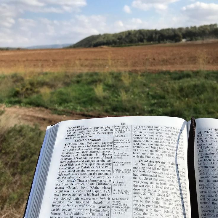 Reading 1 Sam. 17 in the very place where David fought