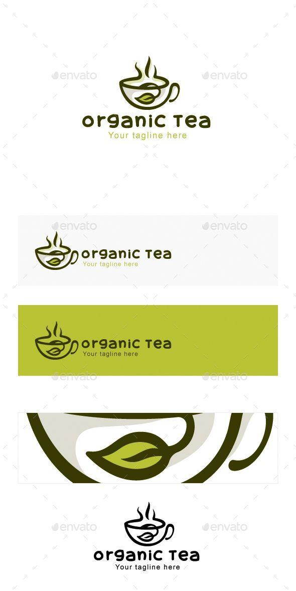 Organic Tea - Natural Drink Logo Design - Objects Logo Templates
