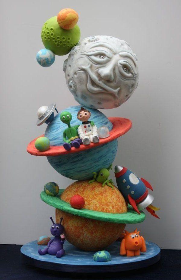 Gâteau d'anniversaire original - l'astronaute