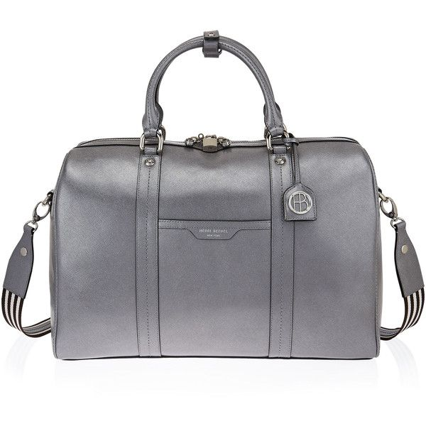 Henri Bendel West 57th Metallic Weekend Duffle (£325) ❤ liked on Polyvore featuring bags, luggage and grey
