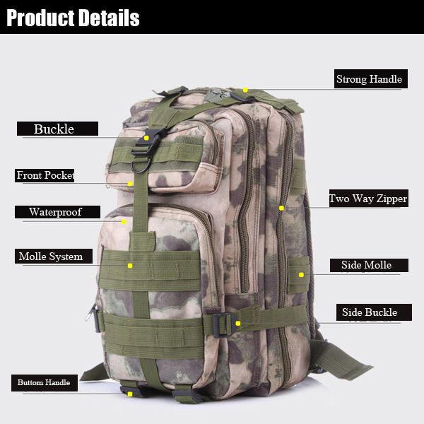 Mens Large Capacity  Casual Riding Hiking Mountaineering Backpacks