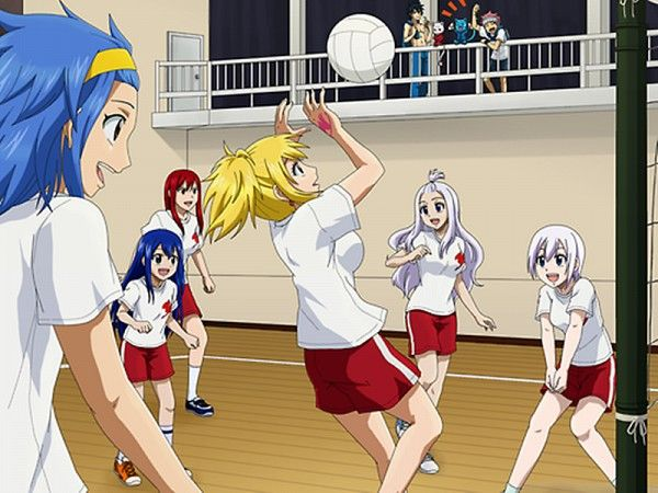 Fairy Tail volleyball game<<< Just imagine all of the injuries XD