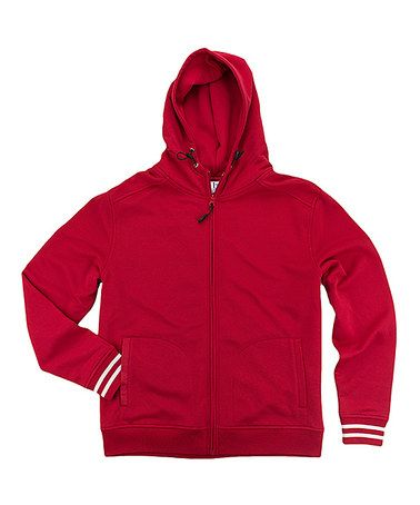 This Red Warm-Up Hoodie - Plus Too is perfect! #zulilyfinds