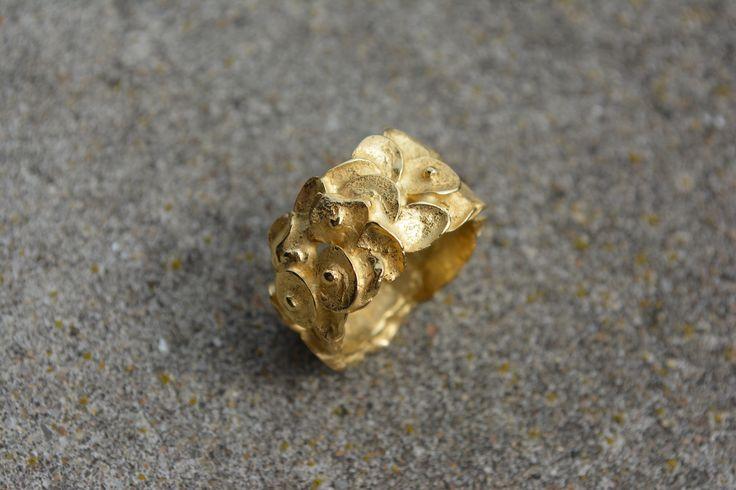 golden poppies ring