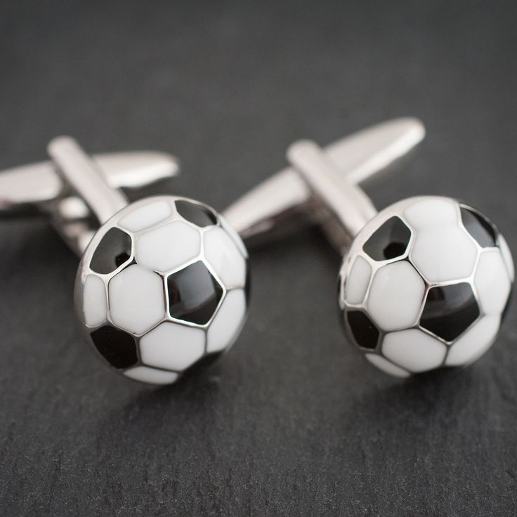 Football Cufflinks In Personalised Box | Engraved Gifts By Getting Personal