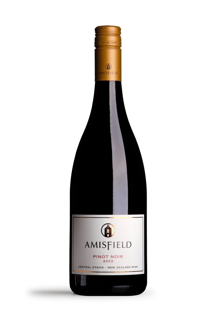 Amisfield Pinot Noir 2013 - A wine expressive of its vintage. Alluring aromas of bright red fruit and hints of cake spice lead to a persuasive length on the palate with delicate silky tannins.