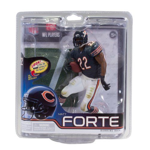 McFarlane Toys NFL Series 30 - Matt Forte Action Figure by McFarlane Toys. $11.70. Jersey color may vary as rare Collector Level figure features the Bears orange jersey. Matt Forte is a running back for the Chicago Bears. Figure is featured in a new pose. From the Manufacturer                NFL 30 showcases the two most talked about players this spring, the likely #1 draft pick, last year's Super Bowl MVP and reigning AP NFL MVP, the Bears newest franchise running...