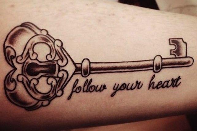44 Ingenious Key Tattoos