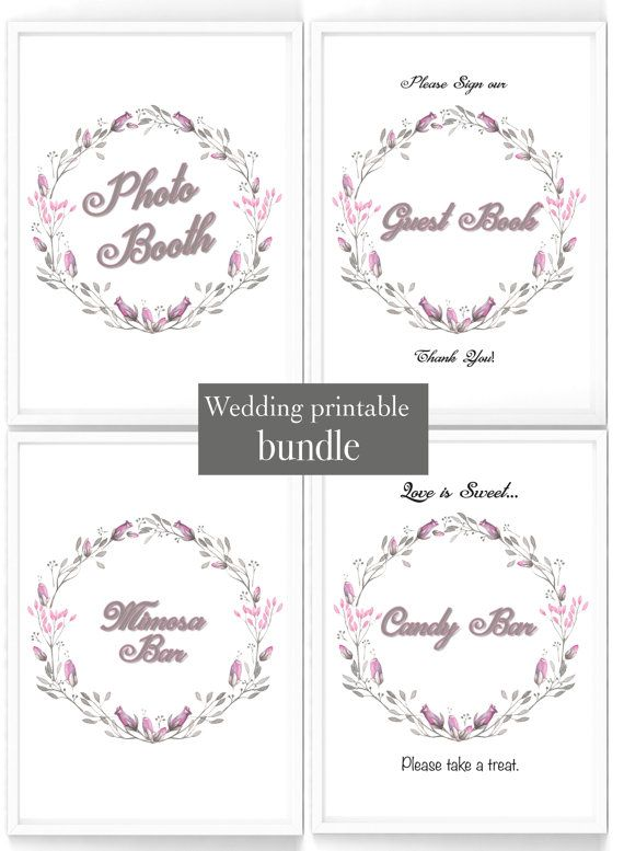 Printable Wedding shower table sign bundle 4 by PaperBoutiqueCA