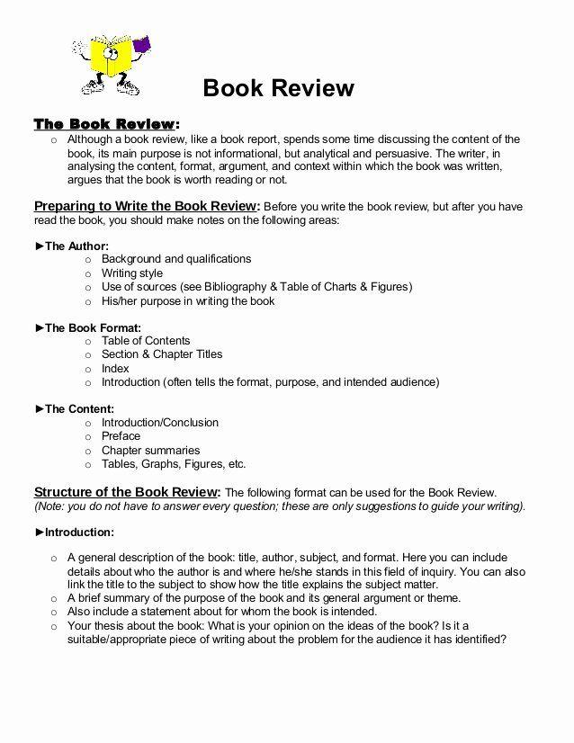 Book Analysis Format Sample Elegant Book Review Format 1 Book Review Template Writing A Book Review Book Report