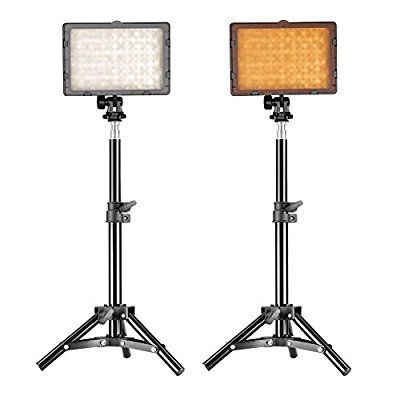 "Neewer® Photography 160 LED Studio Lighting Kit, including (2)CN-160 Dimmable Ultra High Power Panel Digital Camera DSLR Camcorder LED Video Light (2)32"" / 80cm Tall Studio Light Stand"