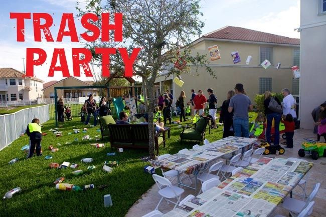 Trash Themed Garbage Truck Party - Spaceships and Laser Beams