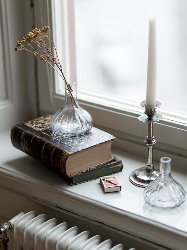 Books & candles..