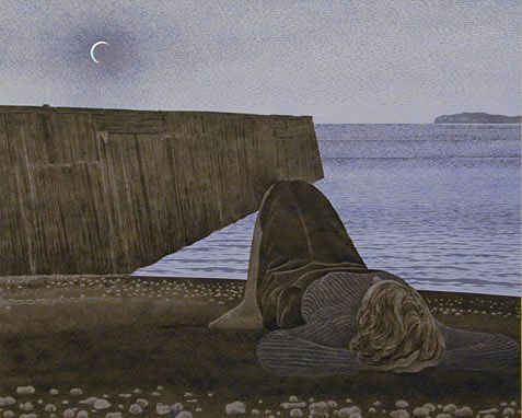 "Dab of paint (as Will Dixon puts it): ALEX COLVILLE / ""New Moon"" / magical realism. Fitting post for a Monday after a supermoon."