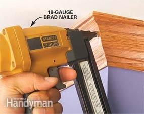 How to Use a Trim Nailer Gun - Step by Step | The Family Handyman